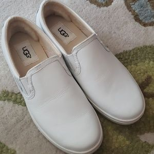 NWT- UGG leather white sneakers